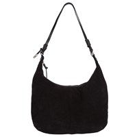 John Lewis Rima Leather Hobo Bag Black
