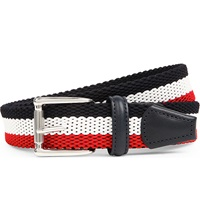 Andersons Striped Woven Belt Red White Navy