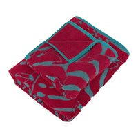 Moeve Botanical Garden Bath Towel Carmine Red