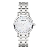 Montblanc 110305 Women's Star Classique Lady Stainless Steel Bracelet Strap Watch Silver