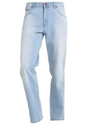 Wrangler Texas Straight Leg Jeans Super Light Light Blue Denim
