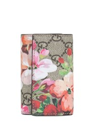 Gucci Blooms Print Gg Supreme Key Holder