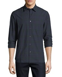 Burberry Alexander Check Sport Shirt Dark Blue