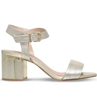 Kg By Kurt Geiger Nora Leather Heeled Sandals Champagne
