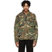 R 13 R13 Green And Brown Camo Multi Pocket Jacket
