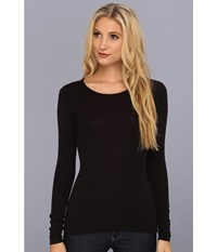 Lamade Long Sleeve Crewneck Thermal Top Black Women's Long Sleeve Pullover