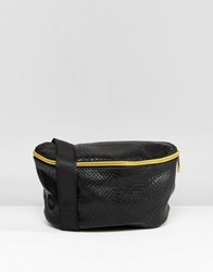 Mi Pac Python Faux Leather Bumbag Black