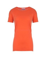 Gentryportofino Short Sleeve T Shirts Orange