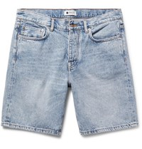 Nn.07 Nn07 Washed Denim Shorts Blue