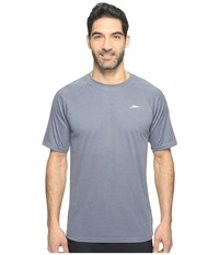 Speedo Heather Easy Short Sleeve Swim Tee New Navy Men's Swimwear