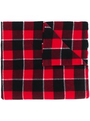 Acne Studios Checked Blanket Scarf Red