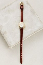 Anthropologie Florence Leather Watch Gold