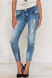 Nasty Gal Freebirds Cropped Jeans