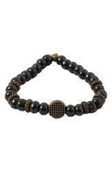 Men's Ettika Wood And Brass Stretch Bracelet