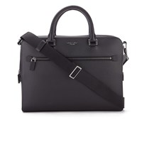 Michael Michael Kors Men's Harrison Medium Front Zip Briefcase Black