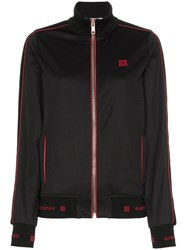 Givenchy Logo Embroidered Track Jacket Black