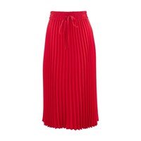 Red Valentino Pleated Skirt Lacca Red