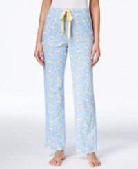 Nautica Satin Drawstring Printed Pajama Pants Placid Blue Umbrella