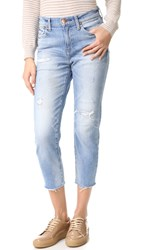 Red Card Synchronicity Boyfriend Jeans Akira Repaired Light
