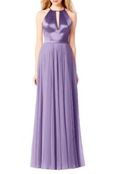 After Six Women's Satin And Chiffon Gown Passion