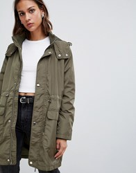 Minimum Relaxed Military Coat Ivy Green