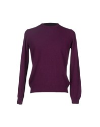 Brooksfield Knitwear Jumpers Men Mauve