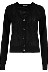 See By Chloe Paneled Wool Cardigan Black