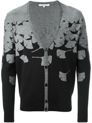 Carven Ginkgo Flower Cardigan Grey