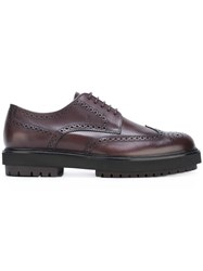 Tod's Brogue Detail Derby Shoes Brown