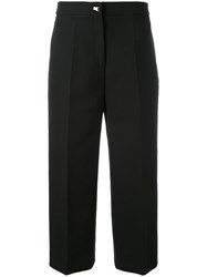 Fendi Tailored Cropped Trousers Black