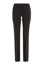 Etro Straight Leg Crepe Trousers Black