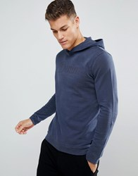 Tom Tailor Hoodie In Blue With Front Print