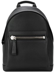 Tom Ford Classic Leather Backpack Black