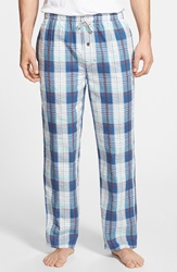 Tommy Bahama Plaid Cotton Lounge Pants Blue Plaid