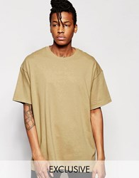 Reclaimed Vintage Oversized T Shirt Tan