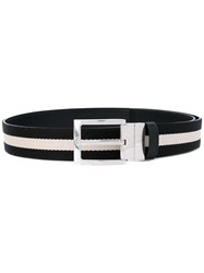 Bally Contrast Panel Belt Black
