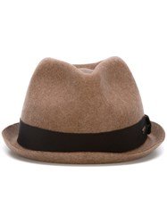 Dsquared2 Hatband Fedora Brown