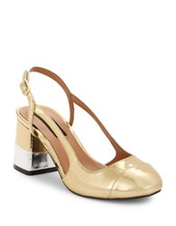 Design Lab Lord And Taylor Tifa Slingback Pumps Gold