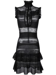 Alexander Mcqueen Victorian Lace Knit Dress Black