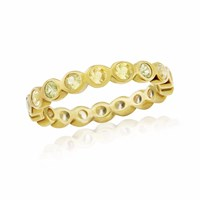 Maiko Nagayama Yellow Sapphire Round Eternity Ring Gold Yellow Orange