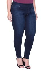 Liverpool Jeans Company Plus Size Women's Sienna Pull On Stretch Ankle Dynasty Dark