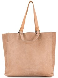 Officine Creative Classic Shoulder Tote Brown