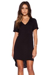 Dolan Rolled Sleeve V Neck T Shirt Dress Black