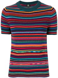 Paul Smith Ps By Short Sleeved Pullover Cotton Merino S