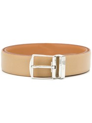 Canali Classic Buckle Belt Nude And Neutrals