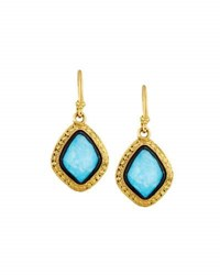 Armenta Old World 18K Turquoise And Moonstone Kite Drop Earrings Blue