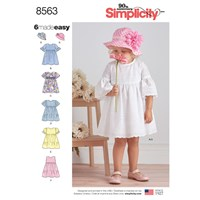 Simplicity Children's Dresses Sewing Pattern 8563 A