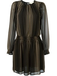 Michael Michael Kors Dot Print Mini Dress Black
