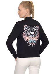 Kenzo Tiger Embroidered Zip Cotton Sweatshirt