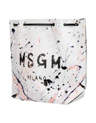 Msgm Backpacks And Fanny Packs White